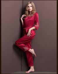 2017 new fashion stylish women washable silk pajamas sets