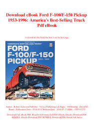 100 Best Selling Truck In America Download EBook Ford F100F150 Pickup 19531996 S Sellin