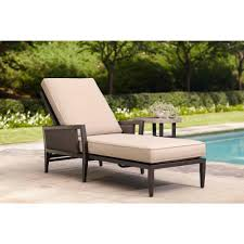 Outdoor Bench Cushions Home Depot by Brown Jordan Greystone Patio Chaise Lounge With Sparrow Cushions