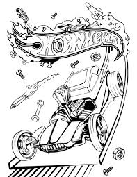 Hot Wheel Coloring Page