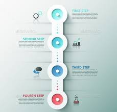 Modern Infographics Process Template With 4 Circle Buttons Icons And Text Can Be Used For Web Design Workflow Layout