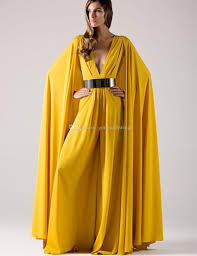 2017 arabic long formal evening dresses with cape gold sashes