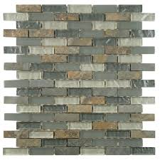 Shell Stone Tile Manufacturers by Merola Tile Tessera Subway Wisp 11 3 4 In X 11 3 4 In X 8 Mm