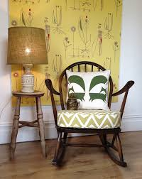 Vintage Ercol Rocking Chair With Scion Dhurrie Cushion