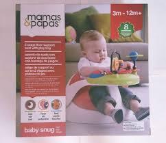 siege snug in box original mamas papas baby snug and activity tray