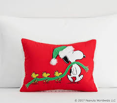 Pottery Barn Decorative Pillows by Holiday Snoopy U0026 Woodstock Decorative Pillow Pottery Barn Kids