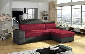 ecksofa sofa marios mit schlaffunktion grau weinrot ottomane rechts