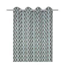 rideau diabolo gris bleu l 140 x h 260 cm inspire leroy merlin