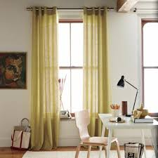 Yellow And White Striped Curtains by Designs Ideas Mid Century Room With White Striped Curtains And