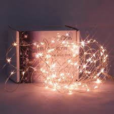 Fairy Lights With 100 Micro Warm White LEDs On Silver Wire By Qbis