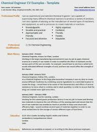Chemical Engineer Resume Cv Example Contemporary Key Skills