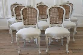 Set Of Eight Vintage French Painted Cane Back Dining Chairs ... Refinished Painted Vintage 1960s Thomasville Ding Table Antique Set Of 6 Chairs French Country Kitchen Oak Of Six C Home Styles Countryside Rubbed White Chair The Awesome And Also Interesting Antique French Provincial Fniture Attractive For Eight Cane Back Ding Set Joeabrahamco Breathtaking