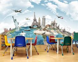 Beibehang Custom Wallpaper Home Decorative Mural Tours Around The World Travel Backdrop Living Room Bedroom