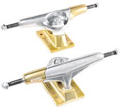 Tensor NEW Primo Raw Gold Aluminum Skateboard Trucks – 5.25 – WTRMLN Thunder Trucks Hi Hollow Light Pro Skateboard Truck 147151 Pair Venture Polished Polished 50 Hi Free Shipping 160mm Caliber 2 Raw 9 Axle Longboard Ipdent 144 Silver Randal Rii 180mm Degree Set Of Standard Street Buy Luxe At The Longboard Shop In The Hague Netherlands Krux Diamond Tall Forged 825 Accsories Cheap Japanese Brands Find Orion Ultimate Grateful Dead Top 10 Best Skateboard Bushings