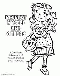 Kindergarten Respect Coloring Sheets Free Sheet