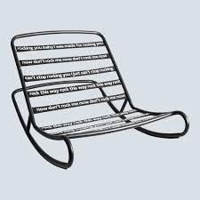 Fatboy® Rock'n'Roll Rocking Chair, Black - Lufthansa WorldShop