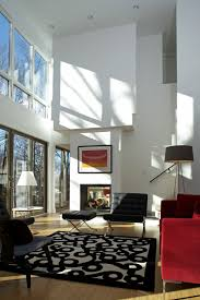 Black And Red Living Room Decorations by High Ceiling Rooms And Decorating Ideas For Them