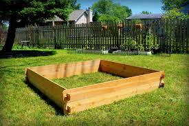 Cedar Raised Garden Bed Deep Gardening Kit Double 6x6 Ve able