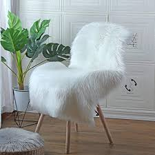 hequn anti rutsch lammfell teppich kunstfell schaffell imitat wohnzimmer teppiche flauschig lange haare fell optik gemütliches schaffell