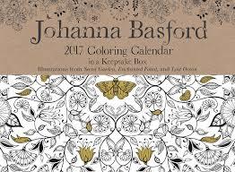 Johanna Basford 2017 Coloring Day To Calendar