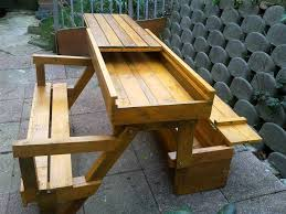 great folding bench picnic table with this all in one picnic table