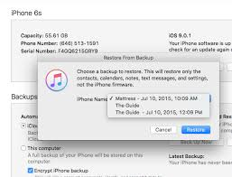 itunes Can t restore iPhone 6S to latest iPhone 5 backup Ask