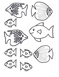 Fish Template Craft Underwater Kids Scene Jpg Printable For Mural Pictures Of Children Large Size