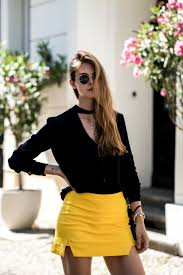 how to wear a yellow skirt summer 2017 fashionblog berlin