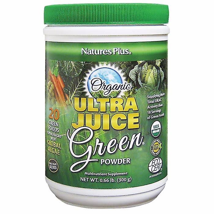 Nature's Plus Organic Ultra Juice Green Powder - 300g