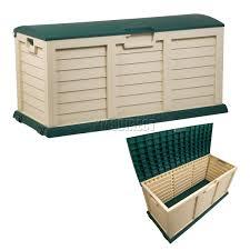 Rubbermaid Patio Storage Bins by Starplast Outdoor Garden Plastic Storage Chest Cushion Shed Box