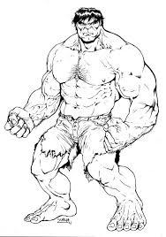 Printable Hulk Coloring Page Free