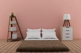 schlafzimmer mit bücherregal mit kleiner le und schrank