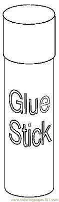 Color line Glue Stick 2 line Coloring For Kids intended for Glue Stick Clipart Black