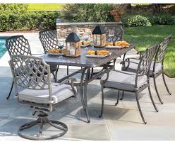 Alfresco Madison Rectangular Outdoor Dining Set | Belfort Furniture ... Bella All Weather Wicker Patio Ding Set Seats 6 Maribella White Modern Outdoor Eurway Marquesas 7pc Tortuga Polywood La Casa Cafe Commercial Collections 5piece Wrought Iron Fniture 4 12 Seater Table Kf87 Roccommunity Tommy Bahama Misty Garden French Country Glass Top Metal Roundup Emily Henderson Signature Design By Ashley Marsh Creek 7piece Dublin Ireland Lisbon 220cm 8 Seat Catalina Chairs Temple Webster