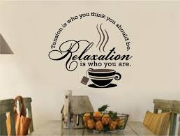Tea Coffee Stickers Vinyl Wall Decal Words Kitchen In Home Furniture DIY Decor Decals