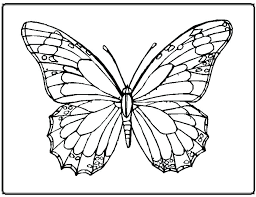 Full Image For Free Printable Butterfly Pictures Coloring Kids Pages Animal Mandala