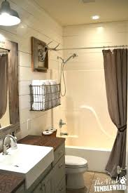 Farmhouse Bathroom Ideas Rustic With Wire Towel Basket Over The Toilet Style