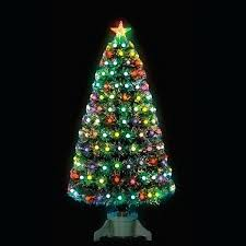 4 Ft Fiber Optic Christmas Tree Frosted Bauble Fibre With Slow Colour Change Fireworks Evergreen Artificial
