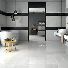 White Floor Tiles Sweet Large With Grey Grout