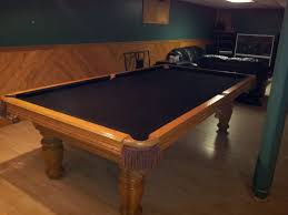 Dining Room Pool Table Combo Canada by Older Oak Table In Oak Room With New Black Cloth For Pool Table