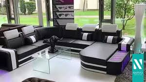 canape mobilier de nativo mobilier canapé design space avec éclairage led
