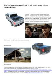 100 Pick Up Truck Song Tim McGraw Releases Official Yeah Music Video National Music