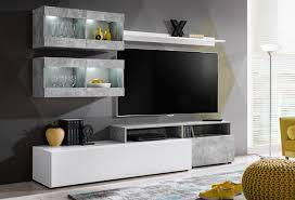 formera tv wohnwand lübeck beton weiß hochglanz schrankwand wohnzimmerwand tv kombination