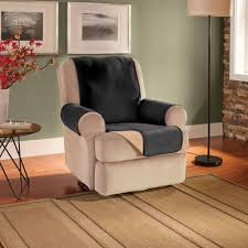 Stretch Suede Wing Chair Recliner Slipcover by Innovative Textile Solutions Puff Recliner Or Wing Chair Protector