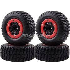 100 4x4 Truck Tires 4pcs Wheel Rims Tyres For 110 Traxxas Off Road 1182