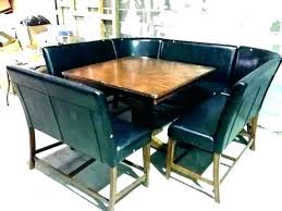 Booth Table Dining Set Room Seating Height Style