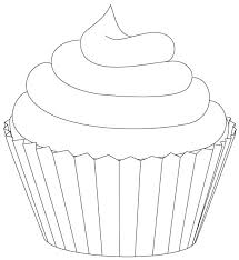 Drawn cupcake candle template 4