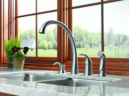 Delta Linden Waterfall Kitchen Faucet by Delta Faucet 4380 Ar Dst Pilar Single Handle Kitchen Faucet With