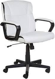 100 Heavy Duty Office Chairs With Removable Arms Amazoncom AmazonBasics MidBack Chair White Kitchen Dining