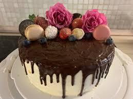 drip cake mit schokoladen ganache